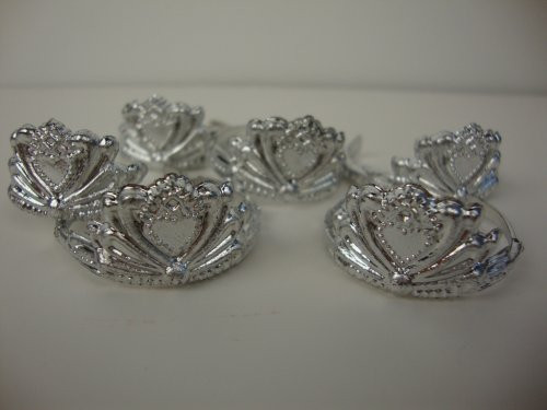 6pcs Vogue Attractive Silver Crowns Princess Crowns Match For Barbie Dolls