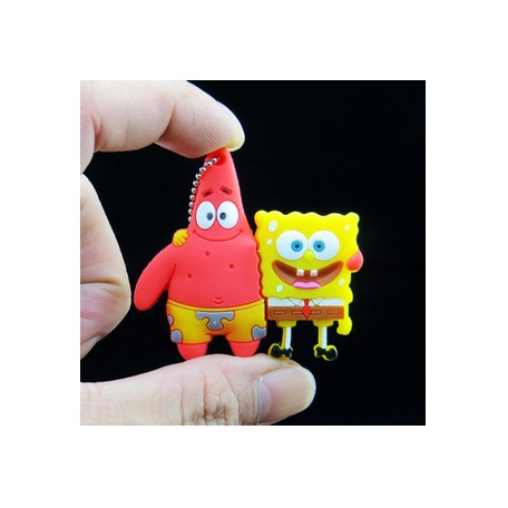 wholesale 4GB 8GB 16GB 32GB 64GB usb flash drive pen drive pendrive Cute Spongebob Patrick together U disk lovely creative(China (Mainland))