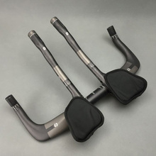 Buy TOSEEK Full carbon rest bar + TT style handlebar set road bike mtb 31.8*400/420/440/460mm 3K finish matte handlebar bike parts for $60.52 in AliExpress store