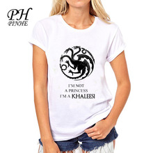 Buy PyHen game thrones t shirt women Mother Dragons Printed women tee tops Blusa lady t-shirts for $6.65 in AliExpress store