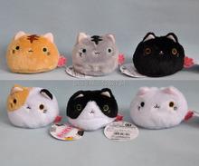 "Free Shipping Cute 6 Styles Big Face Cat / Balls Cat Plush Doll 3.5""(China (Mainland))"