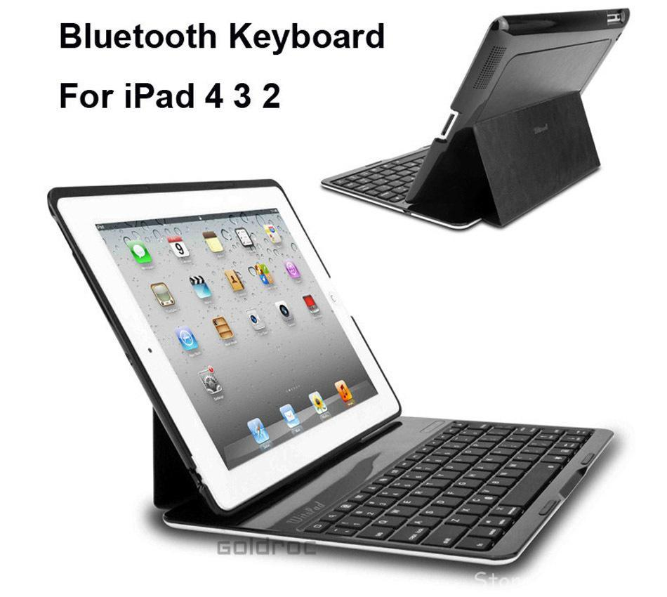 Bluetooth Wireless Keyboard Protective Cover Aluminum Alloy iPad 2 3 4 9.7 inch - Cases Store store