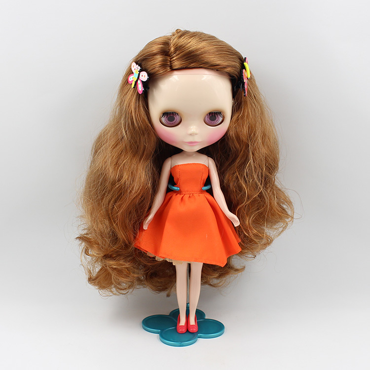 Free Shipping hot sale BL-455 Nude doll DIY toy birthday gift for American girls big 4 colour big eyes beautiful hair doll(China (Mainland))