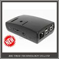 1PCS Raspberry Pi 2 Raspberry Pi Model B Plus Black Case Cover ABS box with 3pcs
