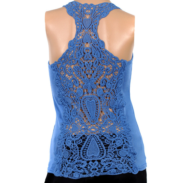 Best selling Korea Women's Tank Top Shirt Hollow-out Vest Waistcoat Camisole Pierced lace