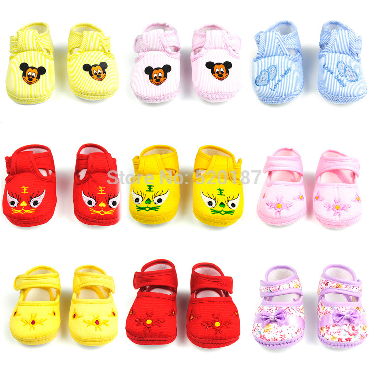 1Pair Promotion Baby Shoes Kids Cotton First Walkers Skid Proof Sapato Infantil Baby Girls Shoes Boys -- BS10 Free Shipping