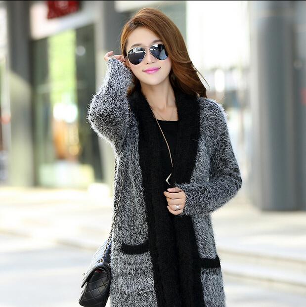 New Winter Fashion Women European American Wind Long Cape Mohair Knit Sweater Cardigan Women SWeate Coat Free Shipping(China (Mainland))