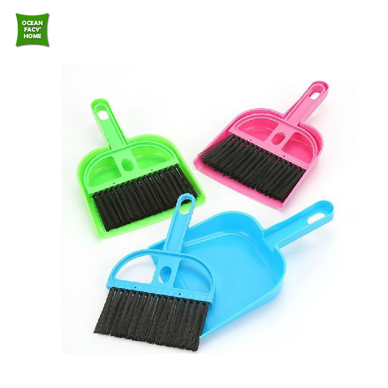 Mini desktop cleaning brush keyboard brush with dustpan small broom suits(China (Mainland))