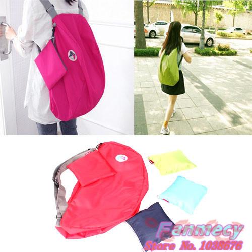 Multi-function Outdoor travel convert folding storage bag Shoulder bag women zipper nylon Backpack(China (Mainland))