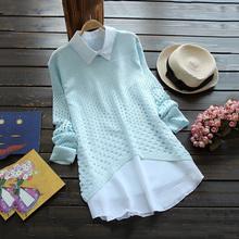 Для беременных одежда весна и лето белый длинная — рукав рубашка 100% хлопок рубашка без тары верхний для беременных шифон рубашка