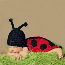 Animal Beetle Style Roupas bebe fotografia hand knits newborn baby sets high quality beanies and pants new baby shower gift