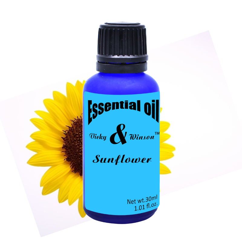 Vicky&winson Sunflower aromatherapy essential oils based 30ML promote human cell growth and then massage oil soap VWXX18(China (Mainland))