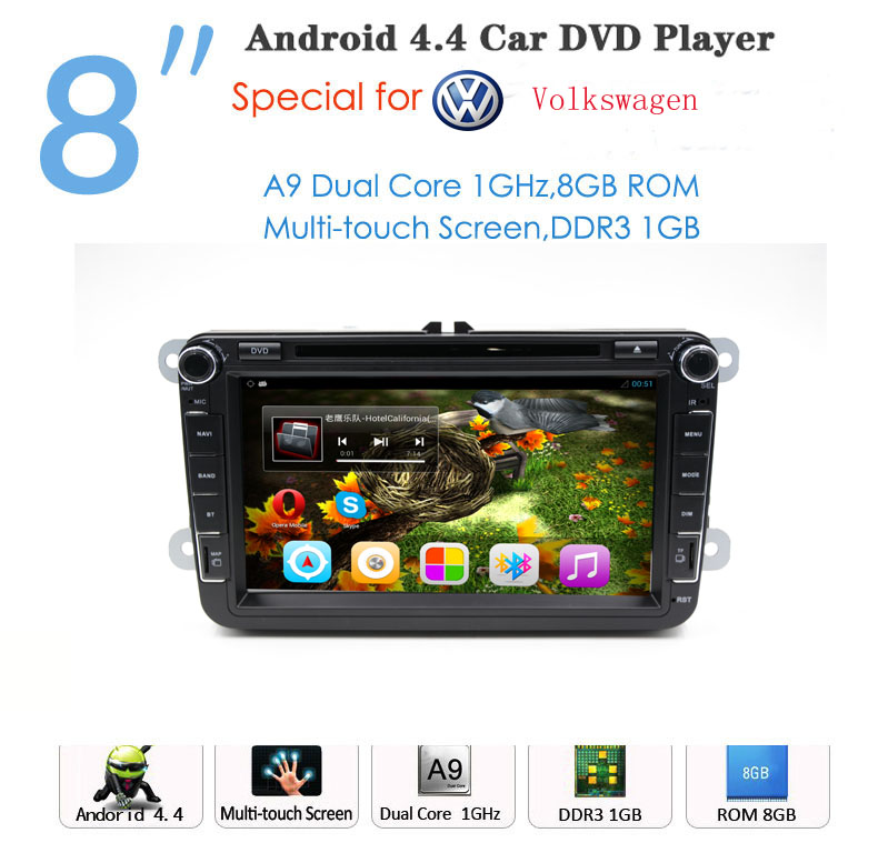 Android Car DVD player 2 din for VW Golf Jetta Tiguan Touran for octavia auto radio Android GPS Navigation(China (Mainland))