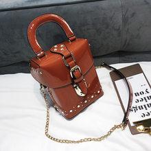 Famosa marca de Diamante bolsas caixa de mini Cube design original Da Marca saco crossbody para as mulheres sacos do mensageiro(China)