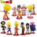 12pcs Dragon Ball Super Saiyan 3 Goku Gohan Vegeta Videl Hercule Gotenks Majin Buu Dabura Banpresto
