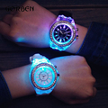 2017 Fashion Sport Quartz Watch Women luminous Silicone Strap Ladies Watch Relogio Masculino Dress Mens watch