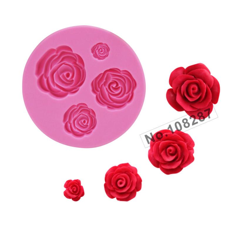 Rose Flower Series Silicone Mold, Sugarcraft Silicone Mold, silicone cake mold fondant decorating, Lace Border Cake Mould SM-018(China (Mainland))