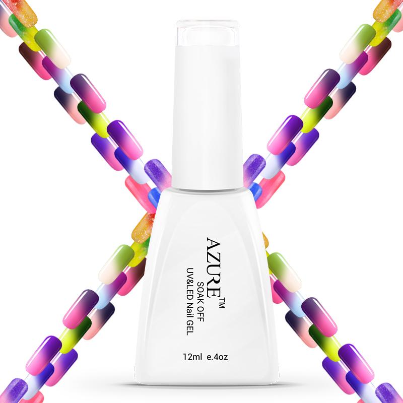 Temperature Color Change Nail Long-lasting HigAh quality Nail Gel Polish 12ml 1 pcs LED UV Gel Nail Art(China (Mainland))