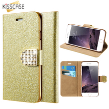 Buy KISSCASE Luxury Wallet Bag iPhone SE 5S Bling Crystal Card Insert Leather Pouch Rhinestone Cover Phone Case iPhone 5 5s for $3.99 in AliExpress store
