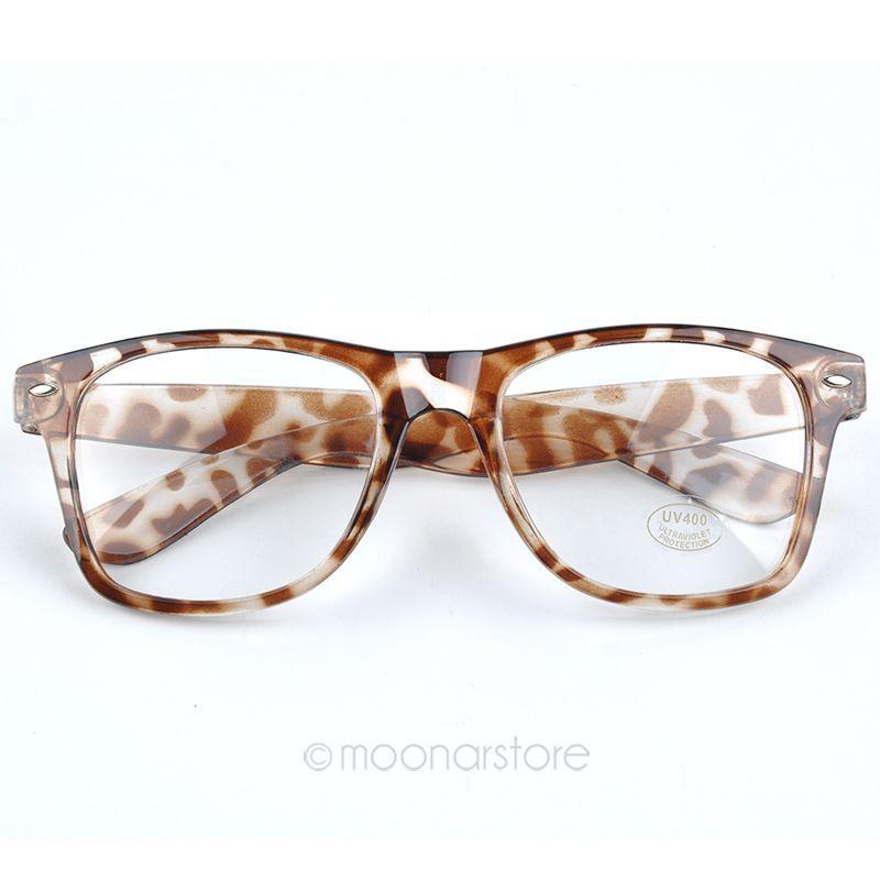 Hot Sale Fashion Clear Lens Wayfarer Nerd Glasses Candy Colors Glasses for Women Girls 10 Colors