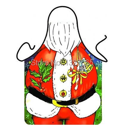 Christmas Santa Claus Apron Funny Bib for Home Kitchen BBQ Party Novelty Gifts(China (Mainland))