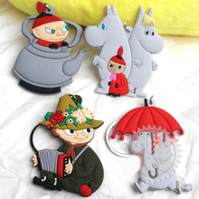 4pcs Anime moomin Valley muumi Little My keychain llaveros Figure Character Figure Pendants Gift