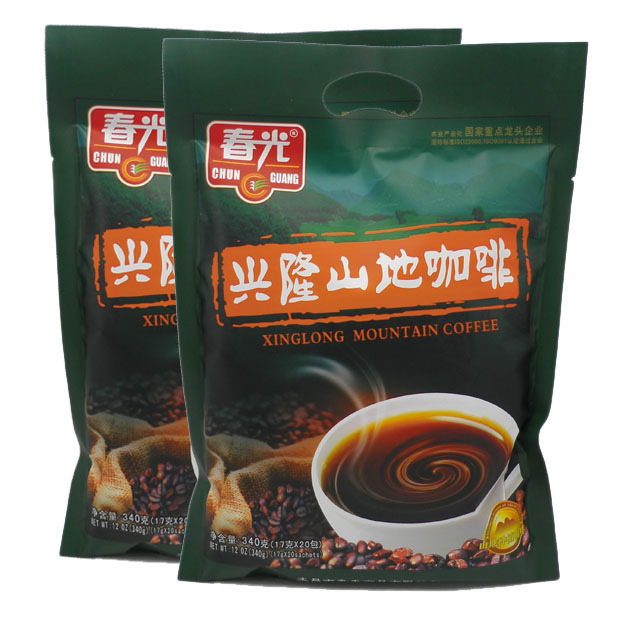 instant coffee Spring coffee 340gx2 bags instant charcoal coffee powder