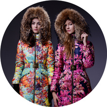 Tantalising ! royalcat huadu 5 2013 thickening flower women's slim down coat female long design