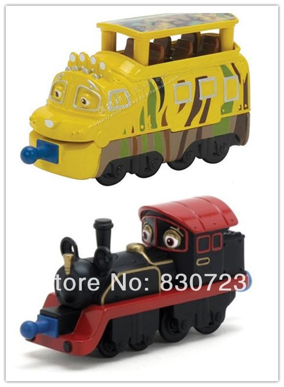 2pcs--Tomy Chuggington Metal Train Educational Mini Toys collections-Mtambo and Old Puffer Pete(Hong Kong)