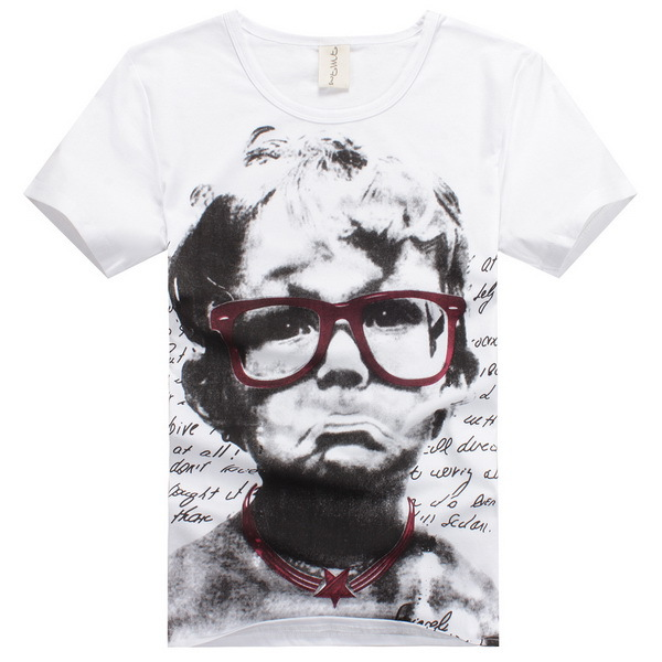 T shirt Men Brand Hip Hop Style Man Fashion Clothes Size M-2XL Cute Little Boy Printed Summer Style Men Tees Cheap Clothing(China (Mainland))