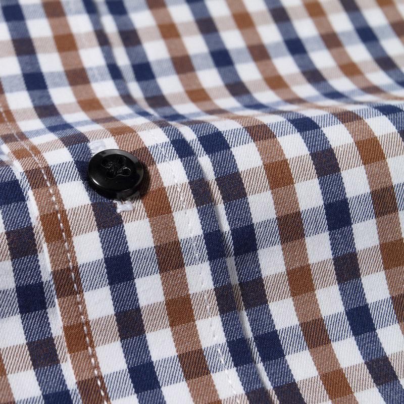 New Design Fashion 2015 Brand Mens Plaid Shirts British Style Casual Shirt Long Sleeve Slim Fit