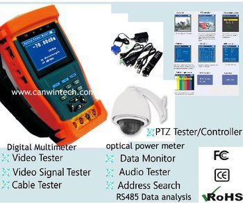 Handheld Multifunction Monitor tester CCTV security tester with PTZ control