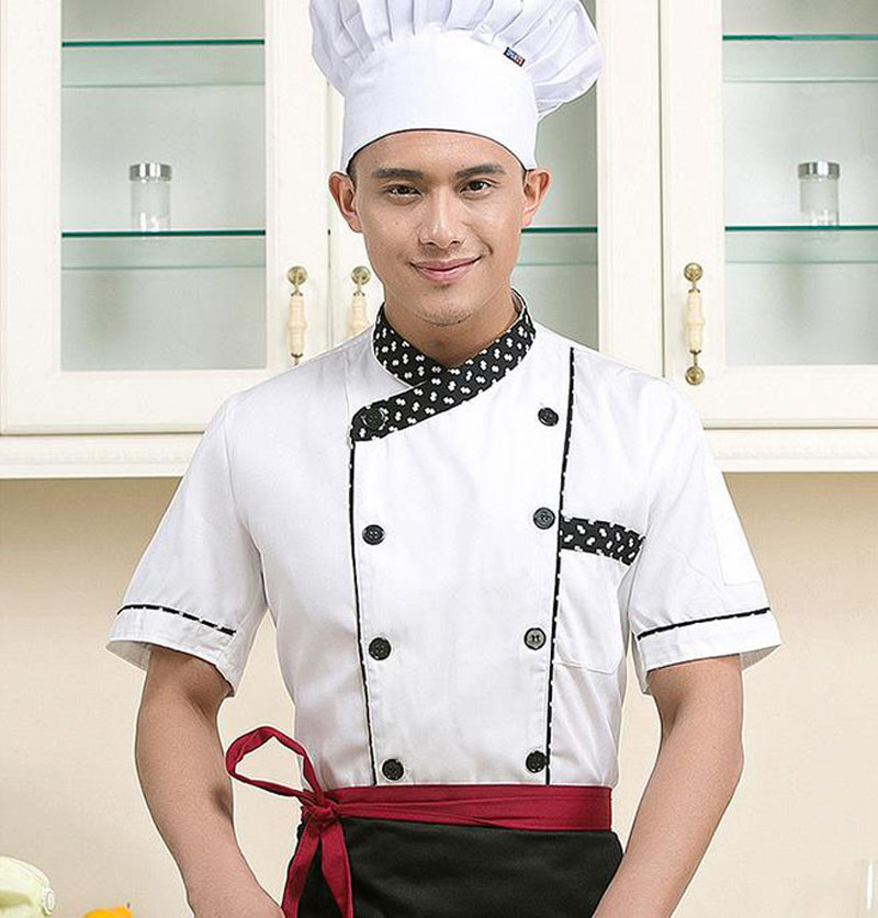 chef uniform short-sleeved summer work uniform chef clothing cafeteria chef uniforms  free shipping C6T90(China (Mainland))