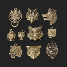 Buy Mixed Tibetan 25pcs Zinc Alloy Wolf Head Charms Antique Bronze Plated Charm Pendants DIY Bracelet & Necklace Jewelry for $3.57 in AliExpress store