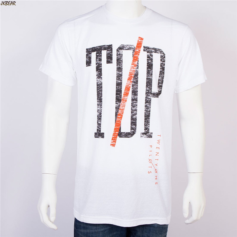 New-arriving Pop Band Twenty One Pilots Fans Short Sleeve T Shirts Plus Size 21 Pilots Casual Cotton Tee Spring Summer Top S-2XL 5