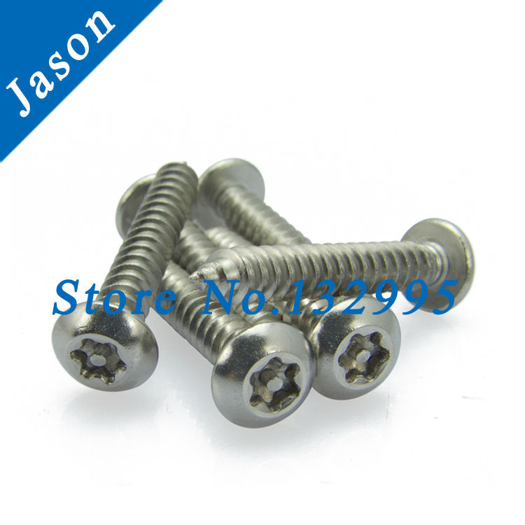 M4.8*25  Stainless Steel A2 round head self-tapping anti-theft screw, SUS 304 Round head self tapping torx screw M4.8*L<br><br>Aliexpress