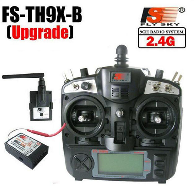 Flysky 2.4Ghz 9ch FS remote control Transmitter & Receiver Combo fly sky FS-TH9X FS-TH9B TH9XB TX RX for rc helicopter(Hong Kong)