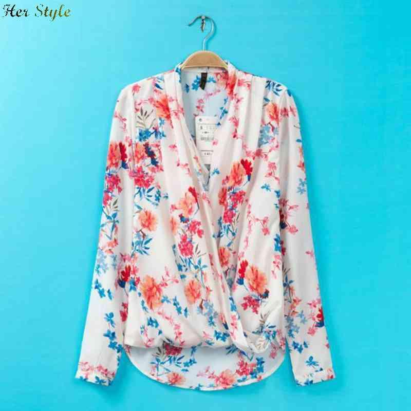 Free Shipping new 2015 womens clothing fashion cross dye printing long sleeve floral shirt dress 1426043598(China (Mainland))
