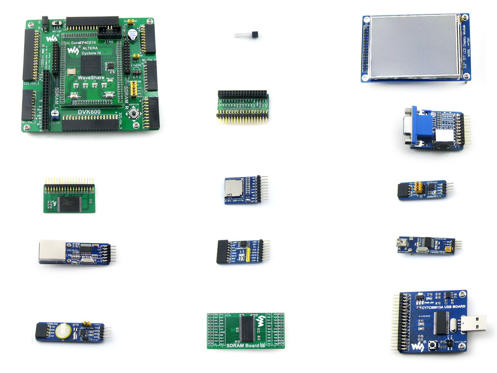 Altera Cyclone Board EP4CE10 EP4CE10F17C8N ALTERA Cyclone IV FPGA Development Board +12 Accessory Kits = OpenEP4CE10-C Package A(China (Mainland))