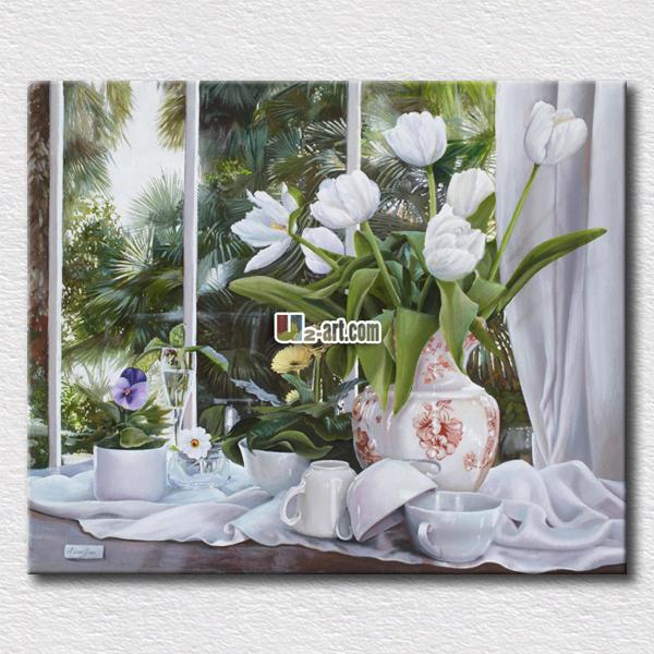 Achetez en gros verre peinture photos fleurs en ligne des grossistes verre - Skinglass toile de verre ...