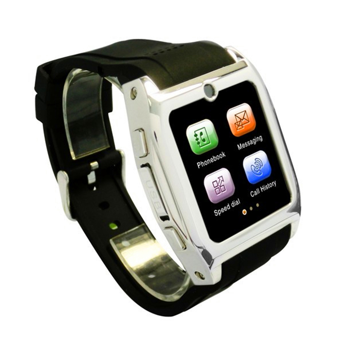 TW530 stainless steel 5MP GSM smart watch fashion wristwatch android/ios Color Black(China (Mainland))