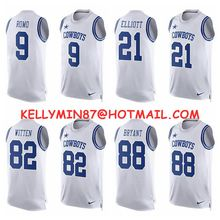 Stitiched,Dallas Cowboys,Tony Romo,Emmitt Smith,Sean Lee,Jason Witten,Dez Bryant,Ezekiel Elliott,Limited Tank Top(China (Mainland))