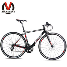 SAVA 700C Carbon Fiber  Road Bike - R5 One-Shaped Handlebar Unisex Road Bicycle 10.5KG Ultralight Carbon Frame  2 Colors(China (Mainland))