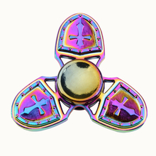 Buy Colorful Fidget Spinner Alloy Hand Spinner Custom Bearing Fidget Toys Cross Style Autism ADHD Stress for $3.77 in AliExpress store