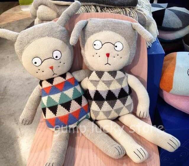 2016 новый Instagram популярная кукла счастливчик воскресенье куклы симпатичные кролики ...
