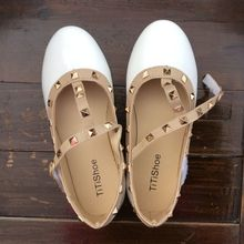 2015 spring and summer influx girls' scandals pretty girl's leather rhinestone princess shoes girls' dancing flats free shipping