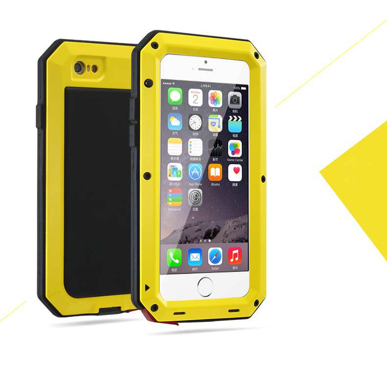 Luxury Shockproof Waterproof Powerful Protection Aluminum Glass Metal Cover Cell Phone Case For iPhone 6 6S Original packaging