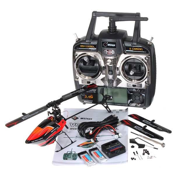 Rc remote control helicoptero WLtoys V922 2.4G Flybarless 3D 6CH RC Helicopter With Gyro RTF(China (Mainland))
