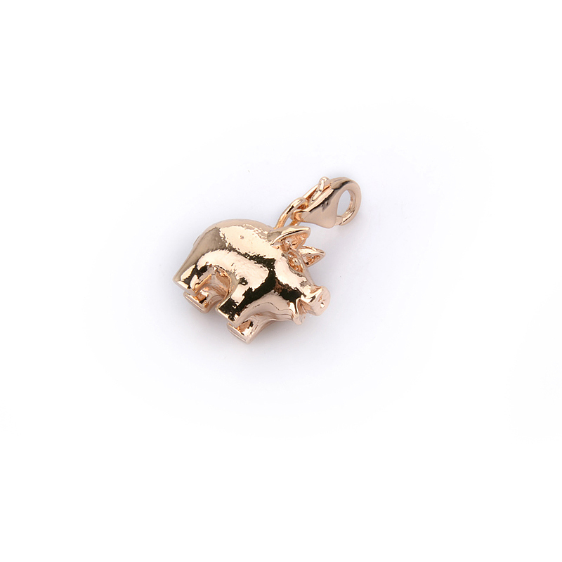 New Factory Wholesale Jewelry Rose gold pig charms ts1256 fit Thomas Style bracelet and necklace(China (Mainland))