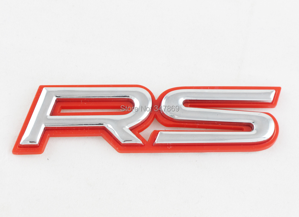 3D Red / Silver Logo RS Chrome Emblem Chevrolet Cruze Car Badge Sticker Decal - Goldenapplestore store
